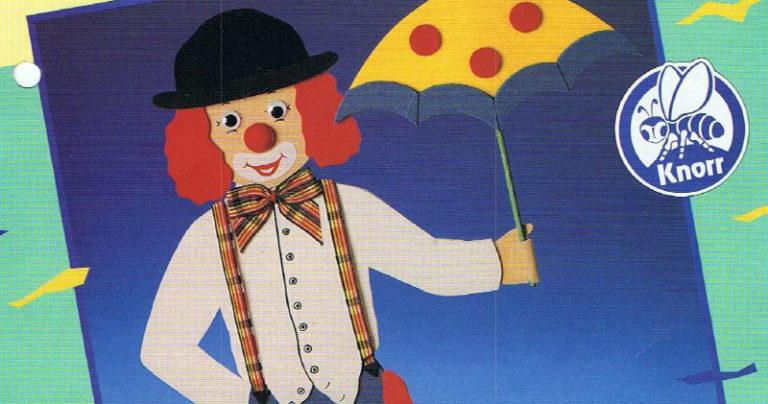 Clown mit Schrim