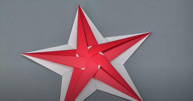 Faltanleitung für den Origami-Stern aus der Landlust