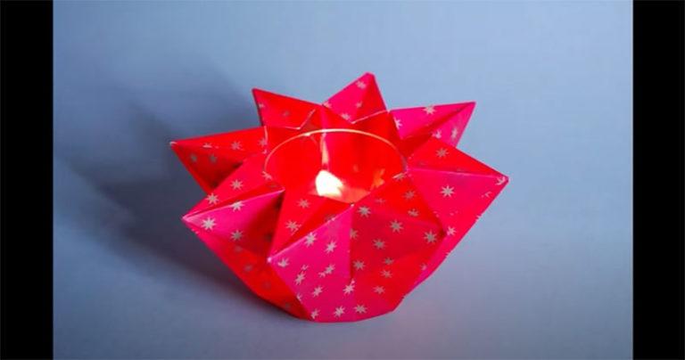 Sternwindlicht aus Papier